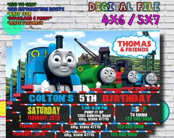 Thomas Train Invitation The And Friends Birthday Invite