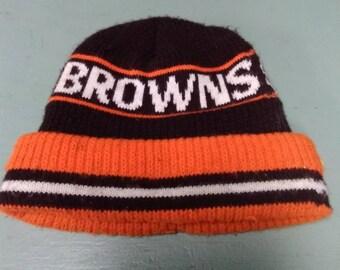Vintage 1980 s Cleveland Browns Toboggan be67ad5b6