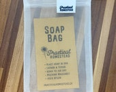 Soap bags, zero waste, no more plastic, soap, scrubber, lather, vegan, eco-friendly set of 3