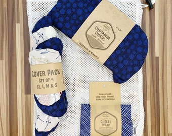 Reuseable Gift Bundle, Eco Friendly, Zero Waste,Container Covers, casserole cover eco friendly