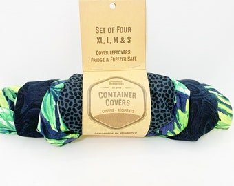 Reusable bowl covers, container covers,  food storage, cover left overs, ecofriendly, zerowaste, vegan