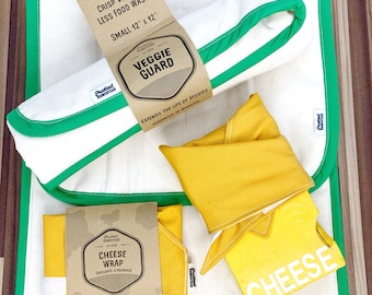 REUSEABLE cheese Wrap & veggie guard, top 2 products in the line