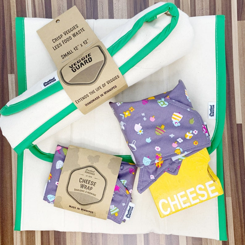 REUSEABLE cheese Wrap & veggie guard top 2 products in the image 0