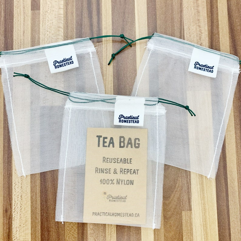 Reusable tea bags spice bag zero waste eco friendly image 0