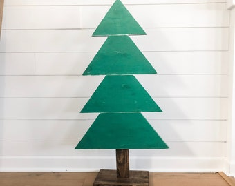 Items Similar To Set Of 3 Rustic Wooden Christmas Trees Xmas Wood