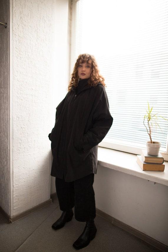 Vintage 80's Black Hooded Parka