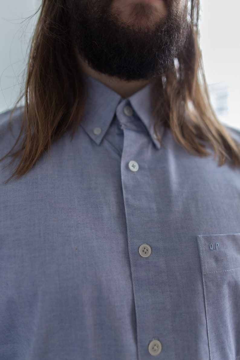 Vintage 80/'s Blue Shirt