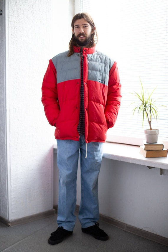 Vintage 80's Red Puffer Padded Winter Jacket