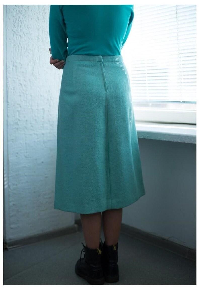 Vintage 80/'s Mint Midi Skirt