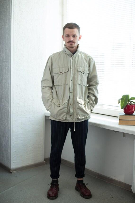 Vintage 80's Beige Parka Jacket