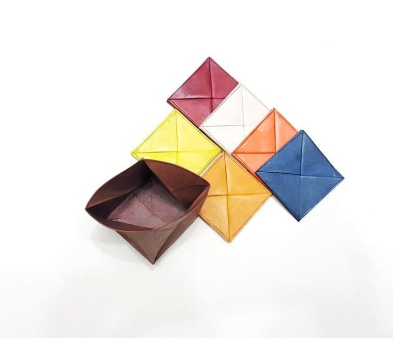 Men Women Purse 6 Colors Pack Small original Moroccan Square Traditional Wallet Handmade Leather Coin Purse Leather Purse