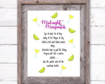 Margarita quote | Etsy