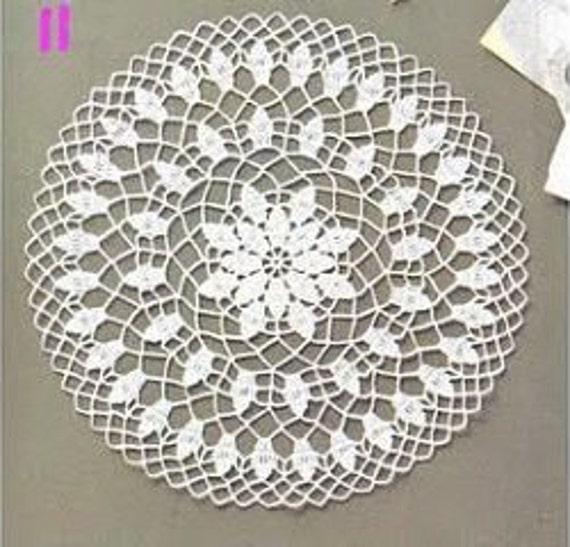 Table Decoration Vintage Style Ivory Crochet Round Doily Interior Decor.
