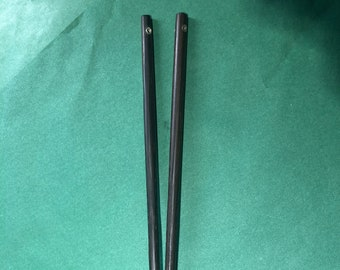 Japanese collection: smoked oak chopsticks with silver inlay