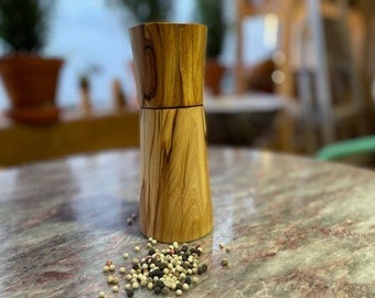 Pepper mill made of olive wood