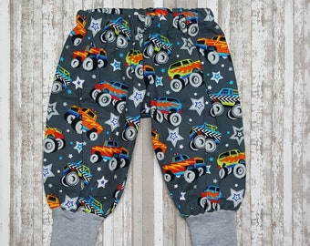 wrecker gray baby pants baby legging baby harem pants excavator