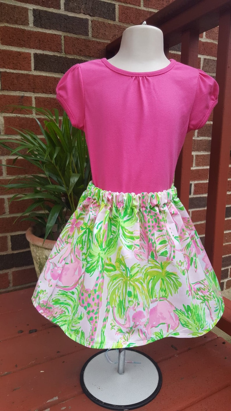 /& 4T with mermaids ocean creatures Beautiful handmade toddler skirts in sizes 2T Ready to ship for summer vacation fun. 3T palm trees
