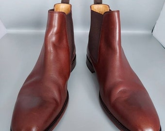 Loake Mens Chelsea Boots - Petworth Brown Size 10F.