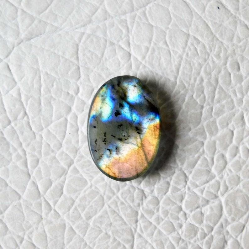 AAA Quality  Oval Shape Multi flashy Labradorite Size28x20x8MM Approx Weight 36Cts AAA Multi Labradorite Cabochon Gemstone