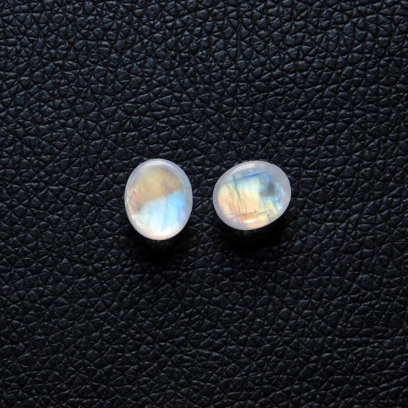 Oval Shape Size 12x10x6MM Weight 13.40Cts Designer Cabochon AAA+++ Rainbow Moonstone Cabochon Gemstone Rainbow flashy 100/% Natural