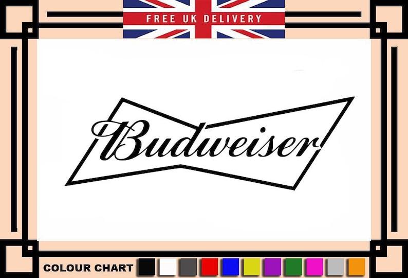 BUDWEISER     Vinyl Sticker graphic          wallart  car  van