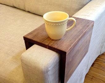 Sofa arm tray table, Couch arm tray, Sofa table wrap, Armrest table