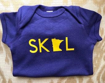 1d5cf4084 SKOL baby ONESIE® 3-6 month | skol vikings | minnesota vikings | minnestoa vikings  ONESIE® | skol | Minnesota Vikings baby 3- 6 months