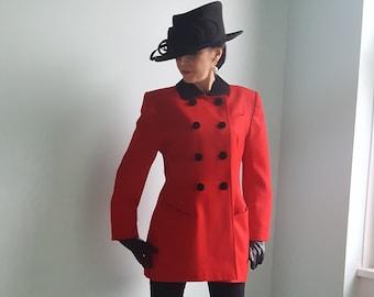 daeda9345a7b18 Vintage Mansfield equestrian inspired Red Wool Jacket