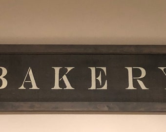 Handcrafted Bakery sign