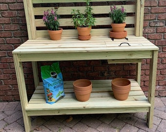 Outdoor Potting Bench - LOCAL PICKUP for the Raleigh NC area. This item is not shipped.