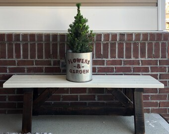 Farmhouse Bench - LOCAL PICKUP for the Raleigh NC area. This item is not shipped.
