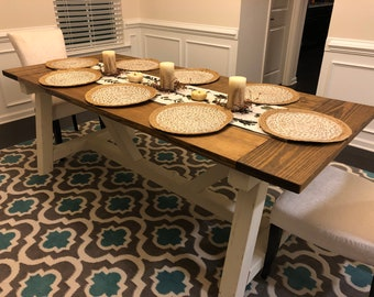 Provincial Farmhouse Dining Table - LOCAL PICKUP for the Raleigh NC area. This item is not shipped.
