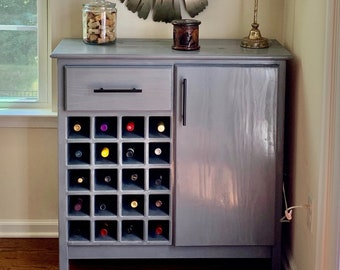 Custom Wine Cabinet - LOCAL PICKUP ONLY