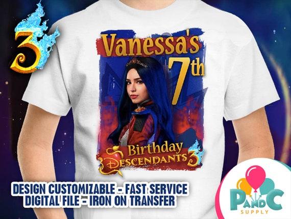 Descendants 3 T Shirt Design For Birthday Party Digital File Etsy