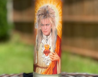 Saint Prayer Candle, Jareth The Goblin King, David Bowie, Devotional Candle, 80's movies, music lover, Labyrinth