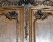 18th Century French Country Armoire Carved Oak Normandy Wedding Armoire