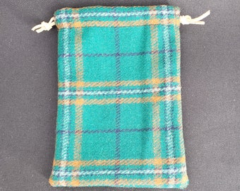 Wool Valuables Drawstring Pouch (Lined)