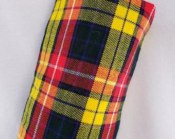 Tartan / Plaid Bright Wool Headcovers Barrel Style