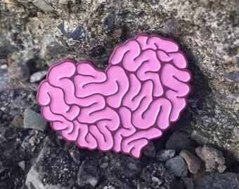 Heart Brain Enamel Pin