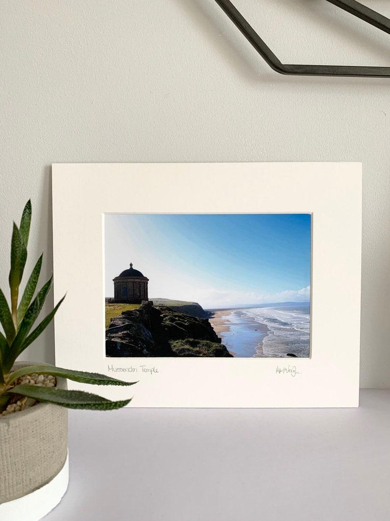 Northern Ireland photography AMcVeighPrints mounted print colour Mussenden Temple Coastline