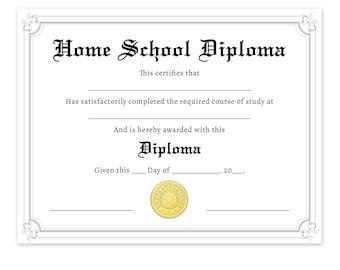 Printable Diploma Etsy