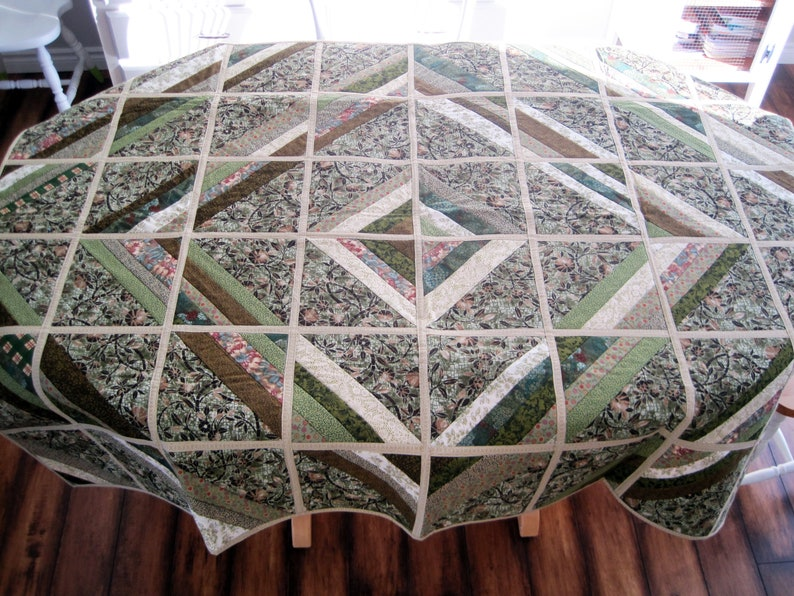 lap quilt or table cloth Two quilts in one