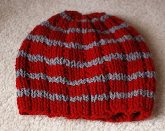 2b477aa973f Items similar to Hand made Knit Beanie Beanie Hat Womens Spring Hat ...