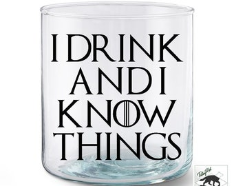 3310082858c I Drink and I Know Things Vinyl Decal | Laptop Decal | Car Decal | Yeti  Decal | GOT Decal | House of Stark | Tyrion Lannister
