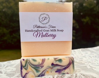 Mulberry Goat Milk Soap | Handcrafted | Fancy | Fall Seasonal Scent | Artisan
