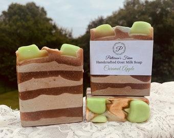 Caramel Apple Goat Milk Soap | Handcrafted Soap | Fall Scented | Artisan Milk Soap