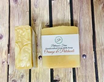 Orange & Patchouli Goat Milk Soap | Classic Scented Soap | Earth Soap | Essential Oil