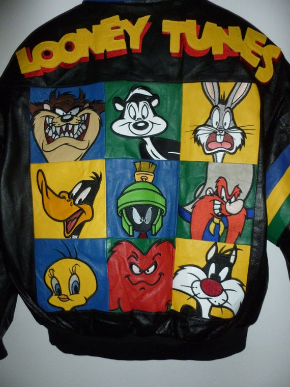Vintage Looney Tunes Leather Jacket