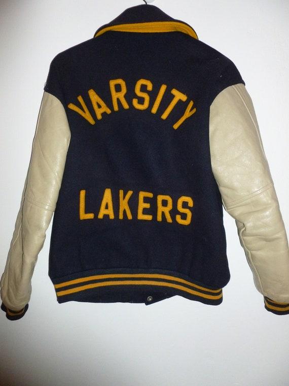 Vintage Varsity Lakers Jacket