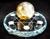 3 Sizes to Pick From - Seven Sphere Glass Stands - Mini Spheres - Tumble Stand - American Seller - Fast Shipping